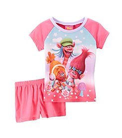 DreamWorks Trolls™ Girls' 4-10 2-Piece Sleep Shorts Set