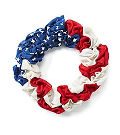 LivingQuarters Americana Burlap Wreath