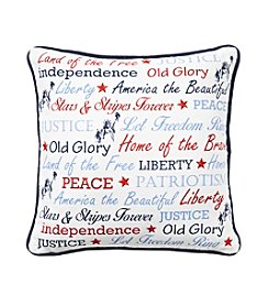 LivingQuarters Americana Verbiage Pillow