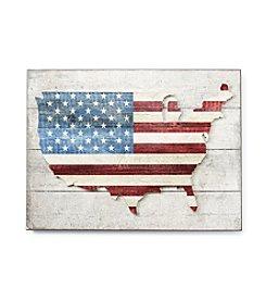 LivingQuarters Americana Flag Wall Art