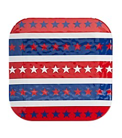 LivingQuarters Americana Patterned Dinner Plate
