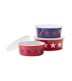 Living Quarters Americana Set Of Three Nested Bowls
