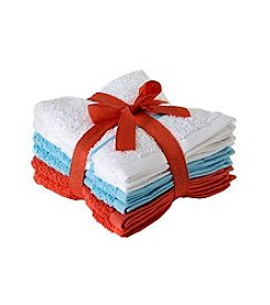 LivingQuarters English Garden 6-Pk. Wascloths