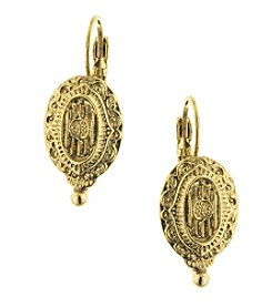1928® Jewelry Goldtone Oval Drop Earrings