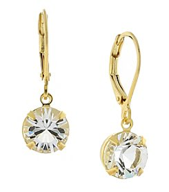1928® Jewelry 14K Gold-Dipped Genuine Swarovski® Crystal Drop Earrings