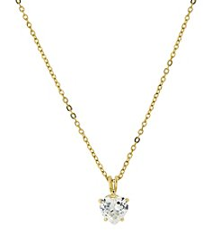 1928® Jewelry 14K Gold-Dipped Heart-Shaped Cubic Zirconia 16