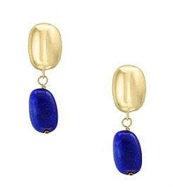 Effy® 14K Yellow Gold Lapis  Earrings