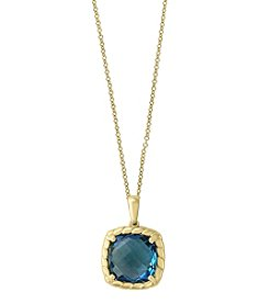 Effy® 14K Yellow Gold London Blue Topaz Pendant