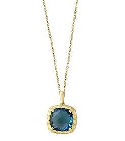 Effy® 14K Yellow Gold London Blue Topaz Pendant