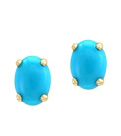 Effy® 14k Yellow Gold Turquoise Earrings