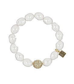 Laundry® Simulated Pearl Pave Stretch Bracelet