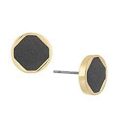 Laundry® Faux Leather Inlay Stud Earrings