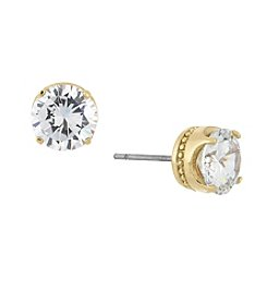 Laundry® Round Cubic Zircona Stud Earrings