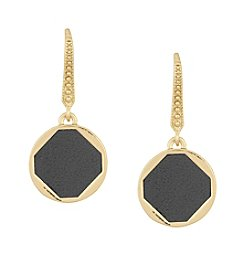 Laundry® Leather Inlay Drop Earrings