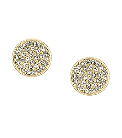 Laundry® Pave Disc Stud Earrings