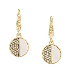 Laundry® Mother Of Pearl Pave Drop Earrings