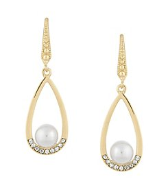 Laundry® Simulated Pearl Teardrop Earrings