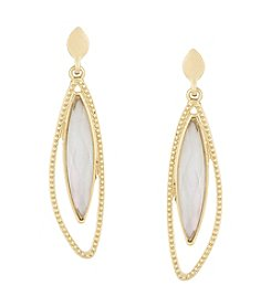 Laundry®  Asymmetrical Stone Drop Earrings