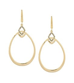 Laundry® Pave Link Teardrop Earrings