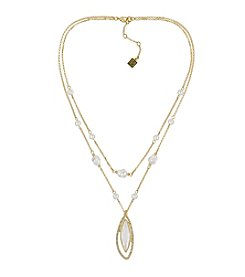 Laundry® Simulated Pearl Double Layer Necklace