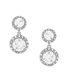 Jessica Simpson Post Double Stone  Earrings