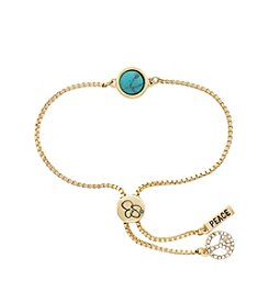 Jessica Simpson Peace Slider Bracelet