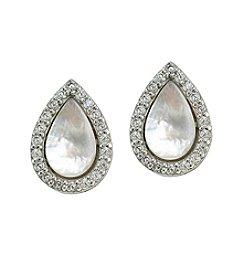 Designs By FMC Sterling Silver Teardrop Stud Earrings