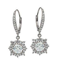 Designs By FMC Sterling Silver Flower Cluster Drop Earrings