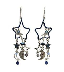 Silver Forest® Open Star With Multi Dangle Earrings