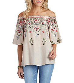Democracy Floral Off-Shoulder Top