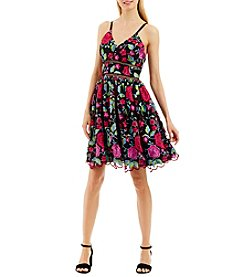 Nicole Miller New York™ Floral Spaghetti Strap Dress