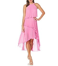 Laundry by Shelli Segal® Pleated Chiffon Dress