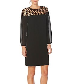 Laundry by Shelli Segal® Lace Insert Cocktail Dress