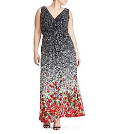 Chaps® Plus Size Floral Maxi Dress