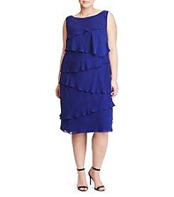 Chaps® Plus Size Ruffle Matte Jersey Dress
