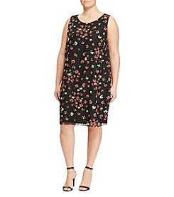 Chaps® Plus Size Floral Sheer Dress