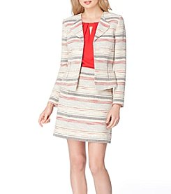 Tahari® Striped Tweed Jacket