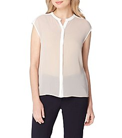 Tahari® Trim Blouse