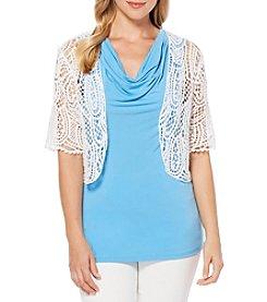 Rafaella® Crochet Cropped Shrug