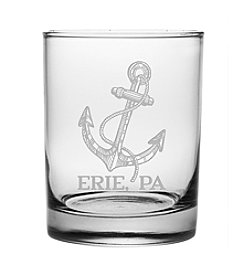 Susquehanna Glass Anchor Erie Double Old-Fashioned Glass