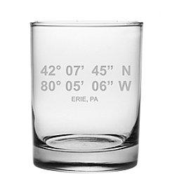 Susquehanna Glass Erie Latitude And Longitude Glass