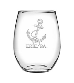 Susquehanna Glass Erie Anchor Wine Glass