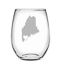 Susquehanna Glass Portland Heart Wine Glass