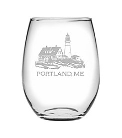 Susquehanna Glass Portland Head Light Wine Glass
