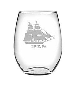 Susquehanna Glass Erie Ship Wine Glass