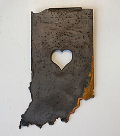 Pittman Design & Fabrication Indiana Heart Plaque