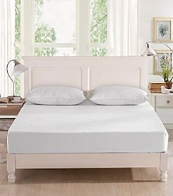 Greenzone Bamboo Viscose Terry Mattress Protector with 2-Pack King Pillow Protectors