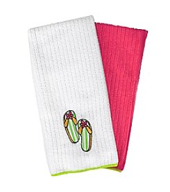Ritz™ Embroidered Microfiber Flip Flops Kitchen Towel Set