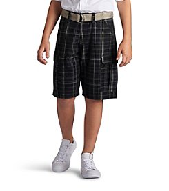 Lee® Boys' 8-20 Plaid Quest Cargo Shorts