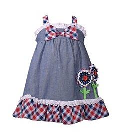 Bonnie Jean® Baby Girls' Americana Plaid Dress